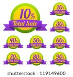 total sale tags with sale 10  ... | Shutterstock .eps vector #119149600
