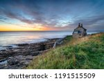 dawn over the old bathing house ... | Shutterstock . vector #1191515509
