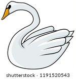 swan bird drawing  vector ...   Shutterstock .eps vector #1191520543