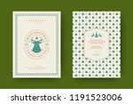 christmas greeting card design... | Shutterstock .eps vector #1191523006