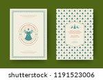 christmas greeting card design...   Shutterstock .eps vector #1191523006