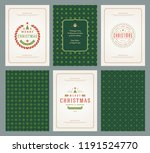 merry christmas greeting cards...   Shutterstock .eps vector #1191524770