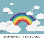 vector illustration of rainbow... | Shutterstock .eps vector #1191527233