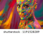 portrait of the bright... | Shutterstock . vector #1191528289