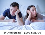 sad young couple arguing in the ... | Shutterstock . vector #1191528706
