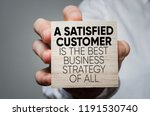 a satisfied customer is the...   Shutterstock . vector #1191530740