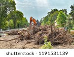 removal of vegetation in south... | Shutterstock . vector #1191531139