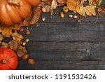 autumn composition with dry... | Shutterstock . vector #1191532426