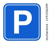 Blue Parking Sign. Isolated...