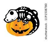 Pumpkin And Lizard Skeleton ...
