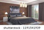bedroom interior. 3d... | Shutterstock . vector #1191541939