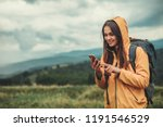 nice young woman using her... | Shutterstock . vector #1191546529