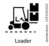 a forklift truck to lift and...   Shutterstock .eps vector #1191551323
