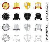 vector illustration of emblem... | Shutterstock .eps vector #1191553630