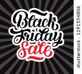 illustration of black friday... | Shutterstock . vector #1191554806