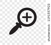 zoom in vector icon isolated on ... | Shutterstock .eps vector #1191557923