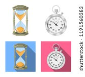 isolated object of clock and... | Shutterstock .eps vector #1191560383
