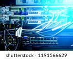 fiber optical connector...   Shutterstock . vector #1191566629