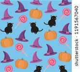 background in the halloween... | Shutterstock .eps vector #1191567040