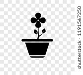 flower vector icon isolated on... | Shutterstock .eps vector #1191567250