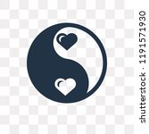 yin yang vector icon isolated... | Shutterstock .eps vector #1191571930