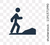 jogging vector icon isolated on ... | Shutterstock .eps vector #1191571990