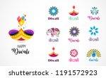 happy diwali hindu festival... | Shutterstock .eps vector #1191572923