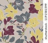 beautiful seamless floral... | Shutterstock .eps vector #1191581599