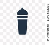 shaker vector icon isolated on... | Shutterstock .eps vector #1191583393