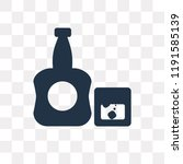 whisky vector icon isolated on... | Shutterstock .eps vector #1191585139