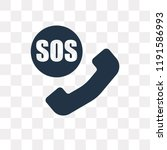 sos vector icon isolated on... | Shutterstock .eps vector #1191586993