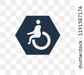 handicap vector icon isolated... | Shutterstock .eps vector #1191587176