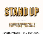 vector stand up alphabet modern ... | Shutterstock .eps vector #1191593023