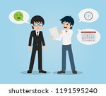 salary man 01 talking with... | Shutterstock .eps vector #1191595240