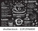 restaurant cafe menu  template... | Shutterstock .eps vector #1191596830