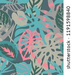 floral seamless pattern made of ...   Shutterstock . vector #1191598840