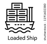 ship used for logistics... | Shutterstock .eps vector #1191602380