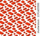 isometric constructor blocks 3d ... | Shutterstock .eps vector #1191605500