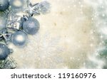 vintage christmas background... | Shutterstock . vector #119160976