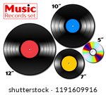 vinyl lp and ep references... | Shutterstock . vector #1191609916
