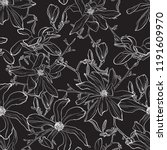 japanese magnolia flower... | Shutterstock .eps vector #1191609970