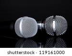 silver and black microphones... | Shutterstock . vector #119161000