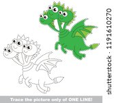 drawing worksheet for preschool ... | Shutterstock .eps vector #1191610270