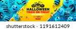 halloween sale promotion poster ... | Shutterstock .eps vector #1191612409