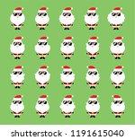 cute cool santa claus wears... | Shutterstock .eps vector #1191615040