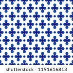 abstract flower blue and white... | Shutterstock .eps vector #1191616813