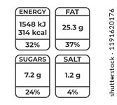 nutrition facts vector package... | Shutterstock .eps vector #1191620176