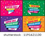 collection sale   super sale ... | Shutterstock .eps vector #1191621130