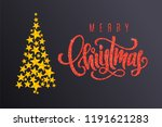 holiday gift card with golden... | Shutterstock .eps vector #1191621283