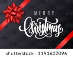 holiday gift card with hand... | Shutterstock .eps vector #1191622096